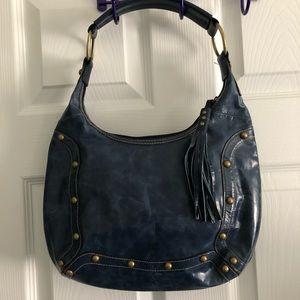 Wilson's leather navy studded hobo bag
